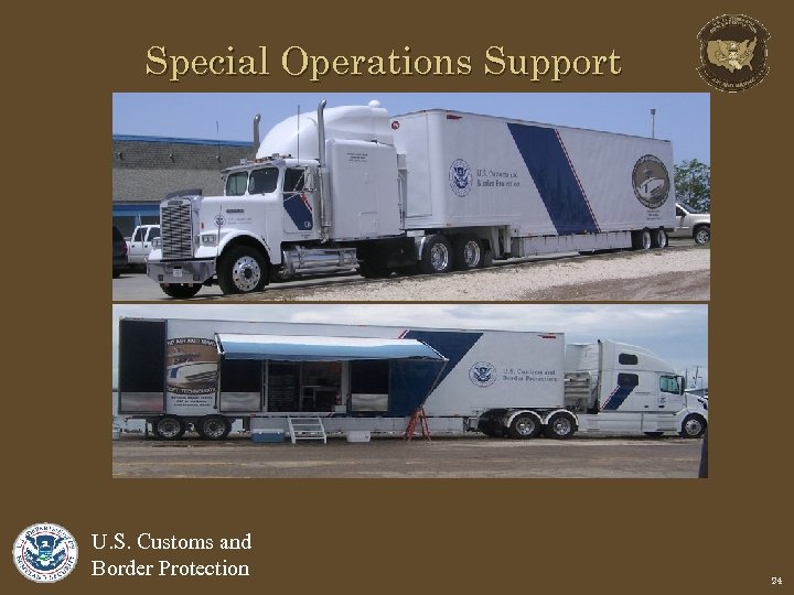Special Operations Support U. S. Customs and Border Protection 24