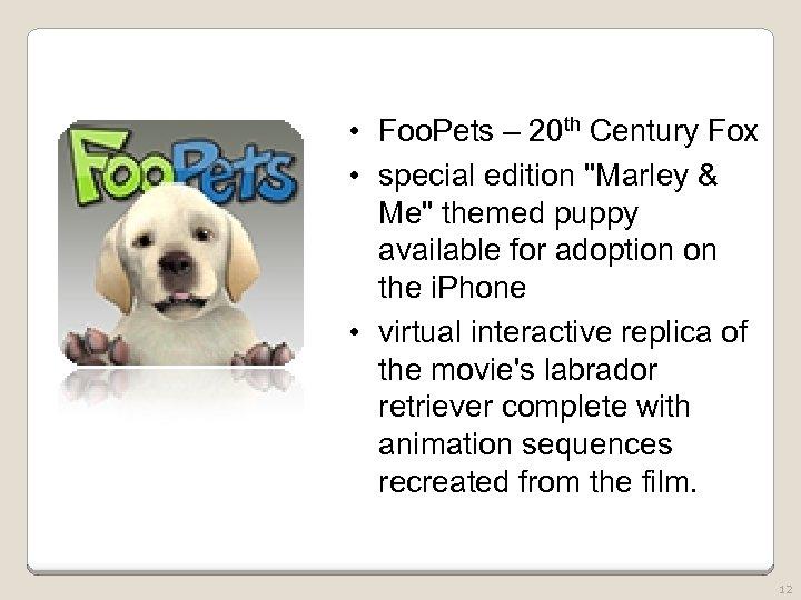 • Foo. Pets – 20 th Century Fox • special edition