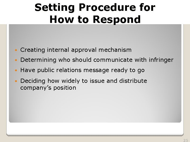 2010 TRADEMARK LAW SEMINAR THE FUTURE OF BRAND PROTECTION Setting Procedure for How to