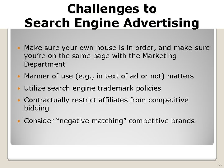 2010 TRADEMARK LAW SEMINAR THE FUTURE OF BRAND PROTECTION Challenges to Search Engine Advertising
