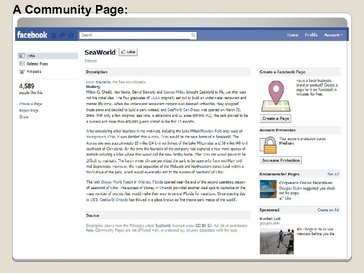 A Community Page: