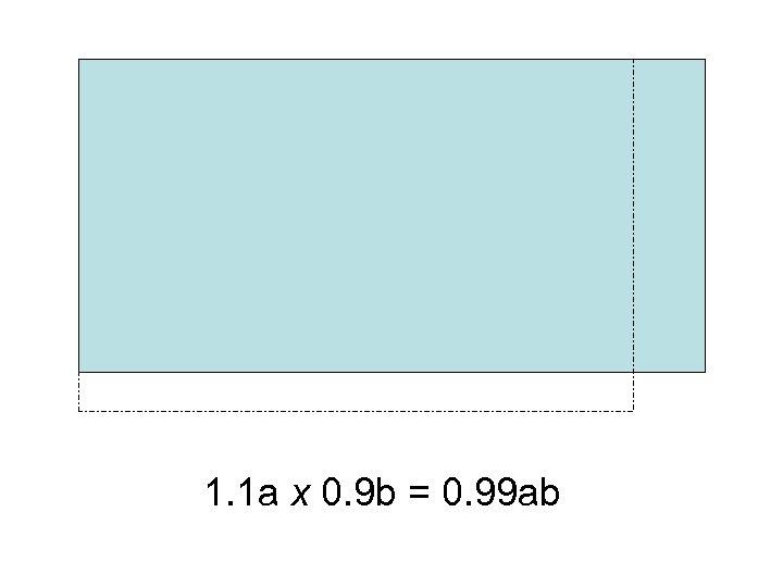 1. 1 a x 0. 9 b = 0. 99 ab