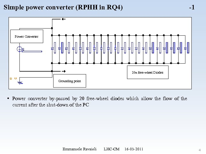 Simple power converter (RPHH in RQ 4) -1 Power Converter 20 x free-wheel Diodes