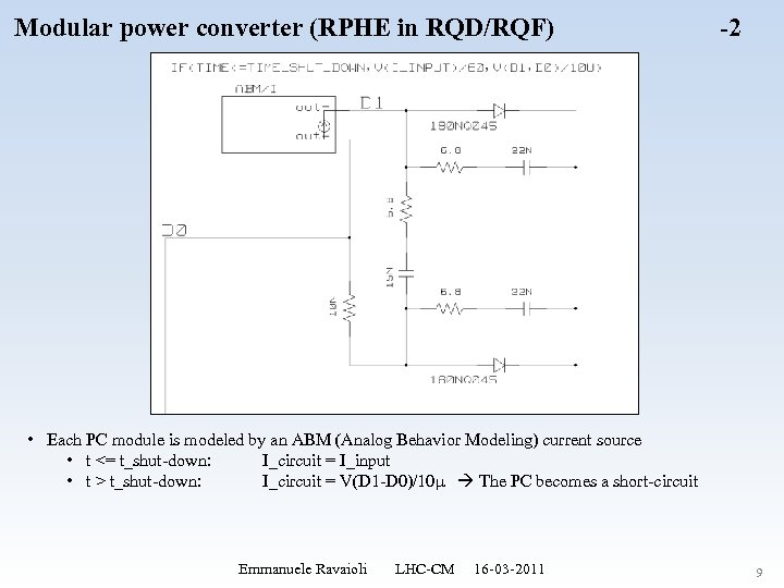 Modular power converter (RPHE in RQD/RQF) -2 • Each PC module is modeled by