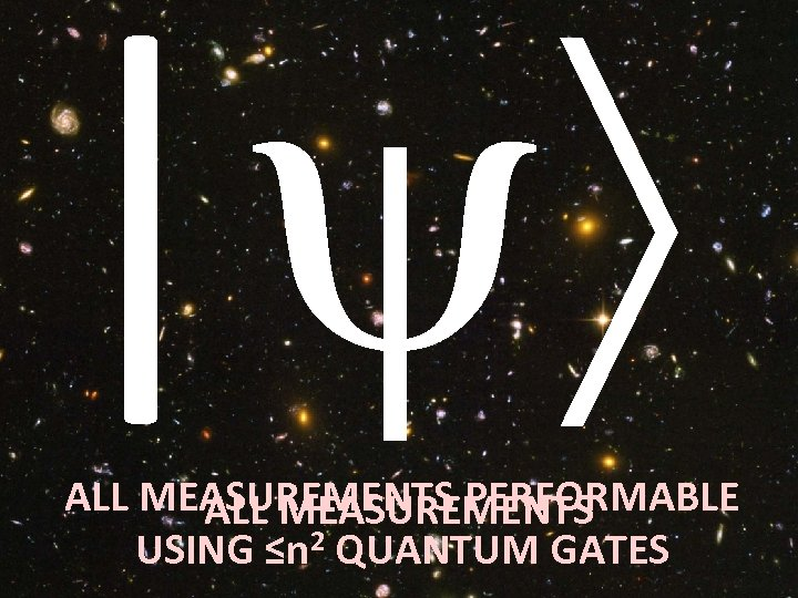 | ALL MEASUREMENTS PERFORMABLE ALL MEASUREMENTS USING ≤n 2 QUANTUM GATES