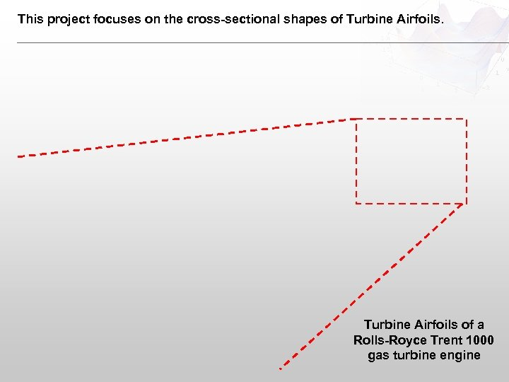 This project focuses on the cross-sectional shapes of Turbine Airfoils of a Rolls-Royce Trent
