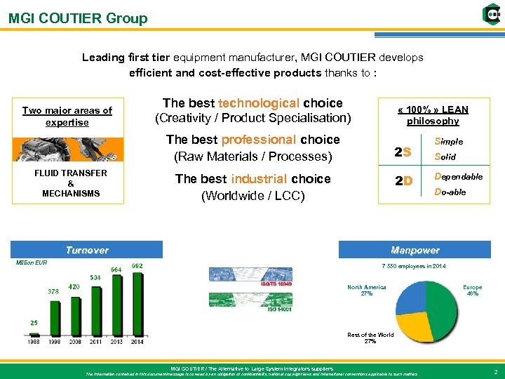 MGI COUTIER Group Leading first tier equipment manufacturer, MGI COUTIER develops efficient and cost-effective