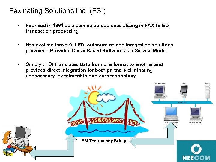 Faxinating Solutions Inc. (FSI) • Founded in 1991 as a service bureau specializing in