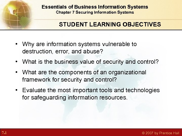 Essentials Of Business Information Systems Chapter 7 Securing