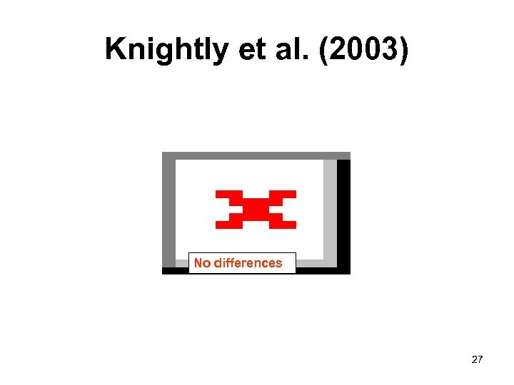 Knightly et al. (2003) No differences 27