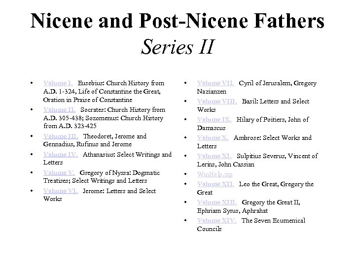 Nicene and Post-Nicene Fathers Series II • • • Volume I. Eusebius: Church History
