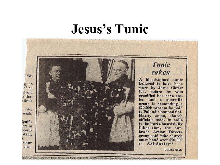 Jesus's Tunic