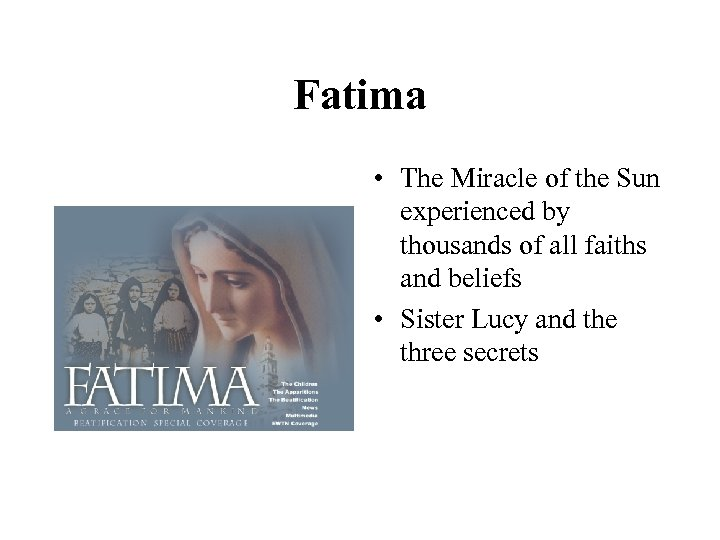 Fatima • The Miracle of the Sun experienced by thousands of all faiths and
