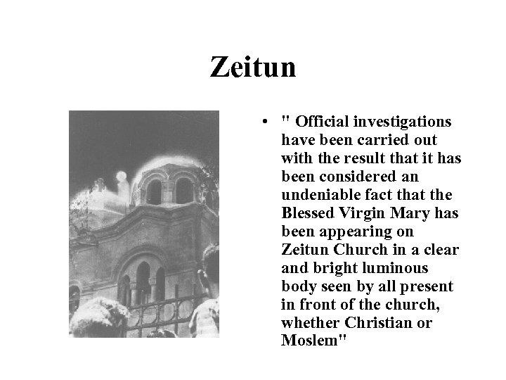 Zeitun •