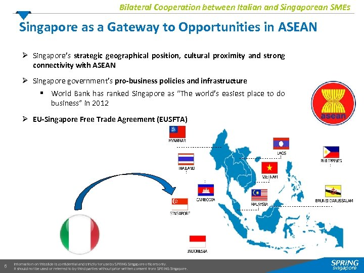 Bilateral Cooperation between Italian and Singaporean SMEs Singapore as a Gateway to Opportunities in