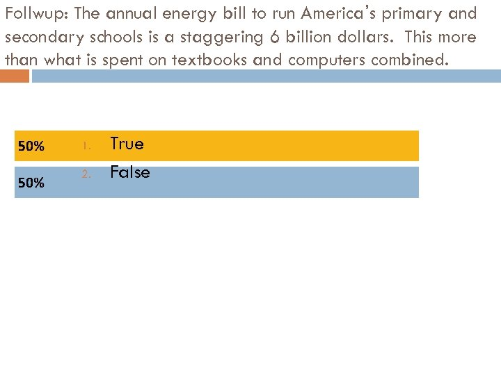 Follwup: The annual energy bill to run America's primary and secondary schools is a