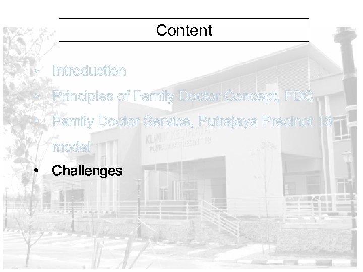 Content • Challenges