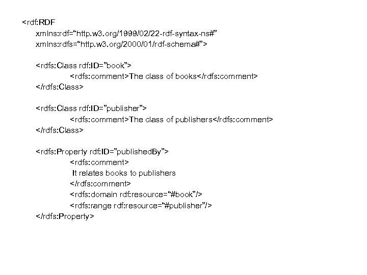 "<rdf: RDF xmlns: rdf=""http. w 3. org/1999/02/22 -rdf-syntax-ns#"" xmlns: rdfs=""http. w 3. org/2000/01/rdf-schema#""> <rdfs:"