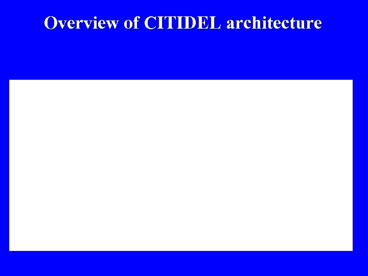 Overview of CITIDEL architecture
