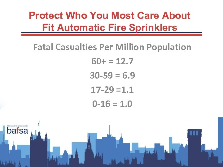 Protect Who You Most Care About Fit Automatic Fire Sprinklers Fatal Casualties Per Million