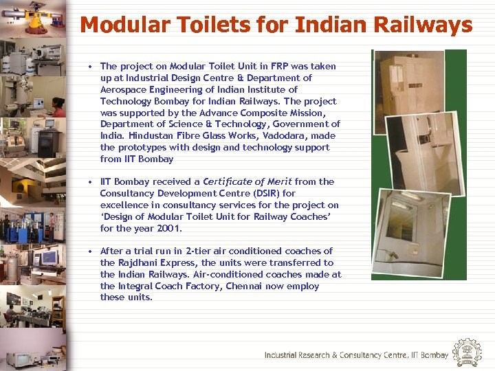 Modular Toilets for Indian Railways • The project on Modular Toilet Unit in FRP