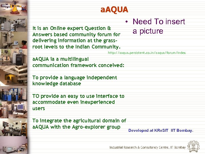 a. AQUA • Need To insert It is an Online expert Question & a