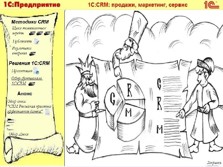 Диск для клиентов • CD-ROM «Информационные материалы для клиентов « 1 С: CRM» •