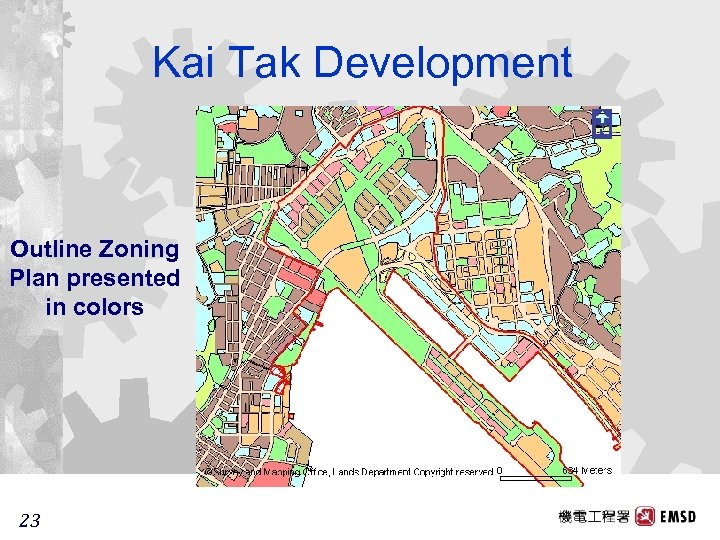 Kai Tak Development Outline Zoning Plan presented in colors 23 23