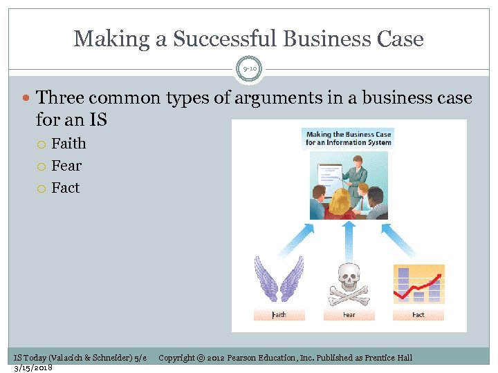 Making a Successful Business Case 9 -10 Three common types of arguments in a