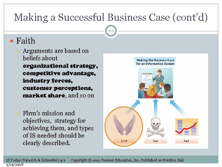 Making a Successful Business Case (cont'd) 9 -11 Faith Arguments are based on beliefs