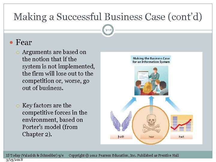 Making a Successful Business Case (cont'd) 9 -12 Fear Arguments are based on the
