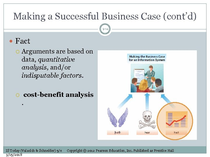 Making a Successful Business Case (cont'd) 9 -14 Fact Arguments are based on data,