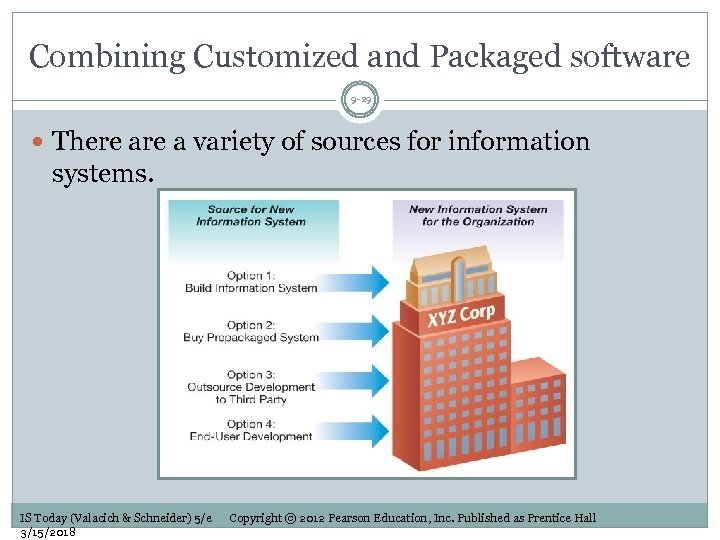 Combining Customized and Packaged software 9 -29 There a variety of sources for information