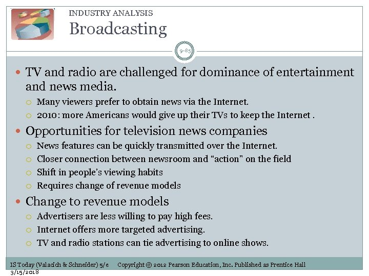 INDUSTRY ANALYSIS Broadcasting 9 -85 TV and radio are challenged for dominance of entertainment