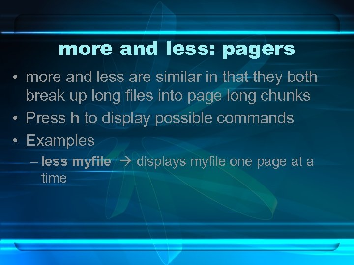 more and less: pagers • more and less are similar in that they both