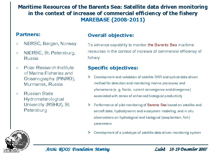 Maritime Resources of the Barents Sea: Satellite data driven monitoring in the context of