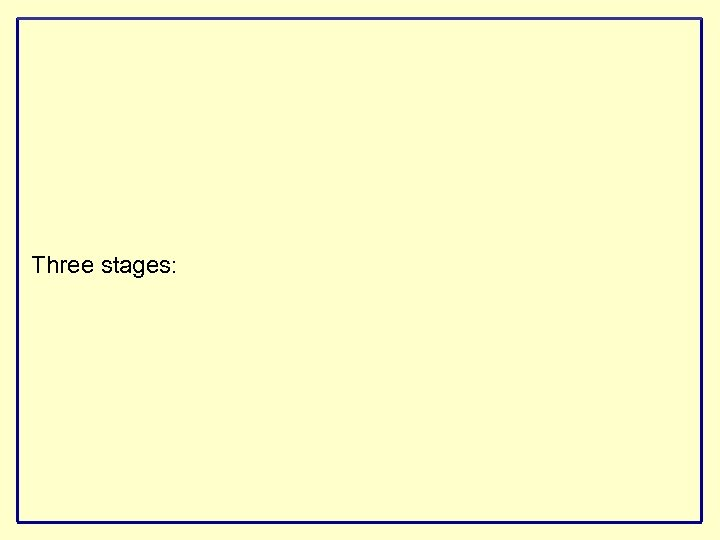 Three stages: