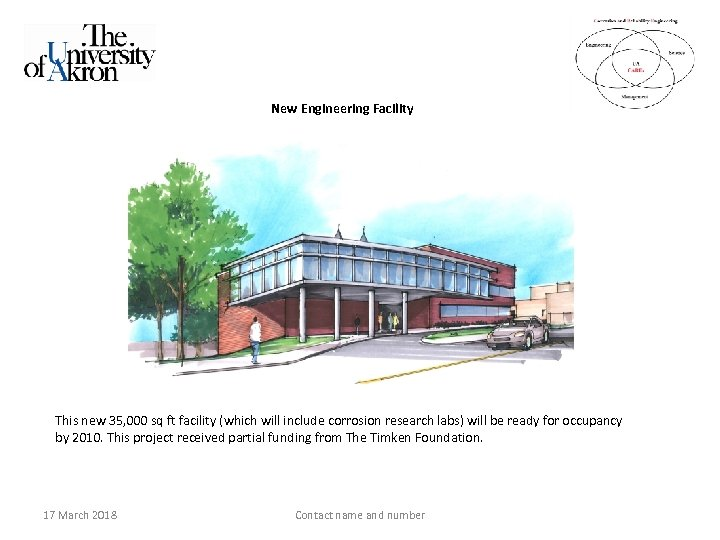 New Engineering Facility This new 35, 000 sq ft facility (which will include corrosion