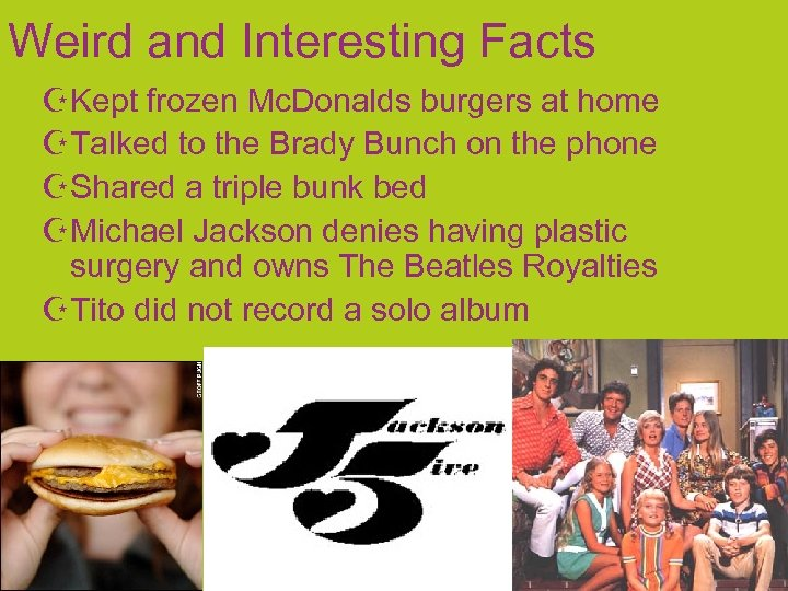 Weird and Interesting Facts Kept frozen Mc. Donalds burgers at home Talked to the
