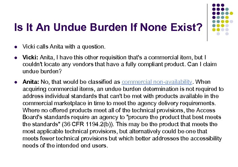 Is It An Undue Burden If None Exist? l Vicki calls Anita with a