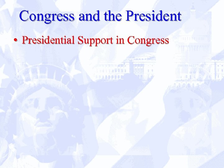 Congress and the President • Presidential Support in Congress