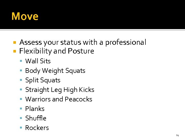 Move Assess your status with a professional Flexibility and Posture Wall Sits Body Weight
