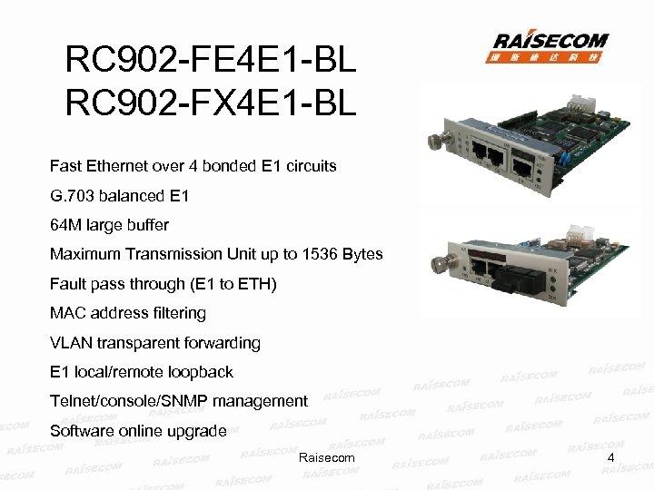 RC 902 -FE 4 E 1 -BL RC 902 -FX 4 E 1 -BL