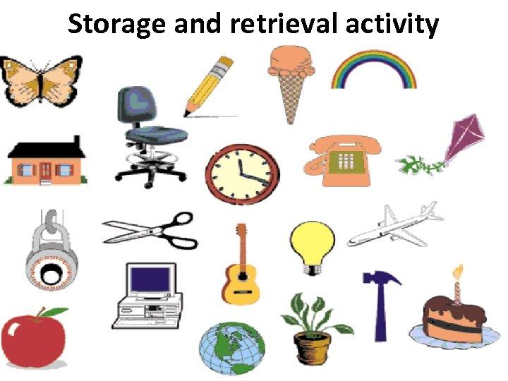 Storage and retrieval activity