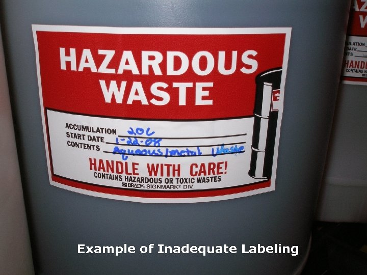 NORTH AMERICA Example of Inadequate Labeling NORTH AMERICA www. Veolia. ES. com TECHNICAL SOLUTIONS
