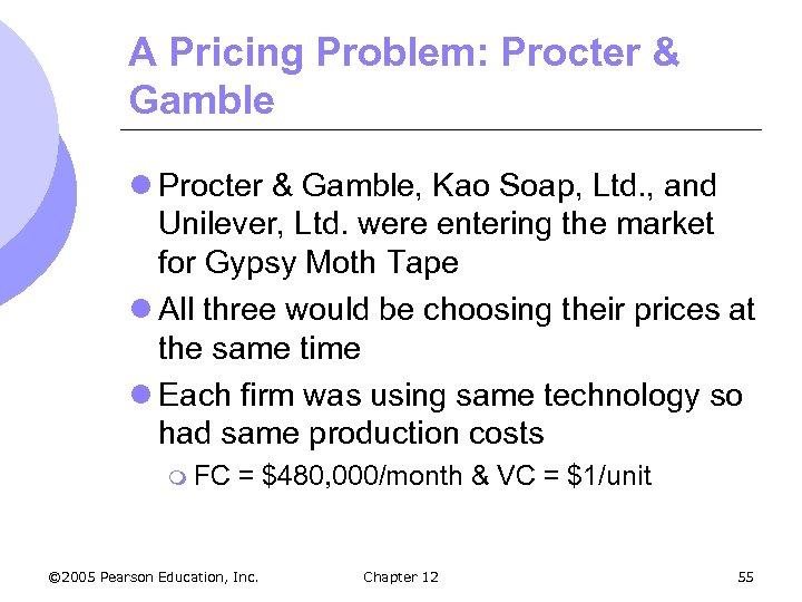 A Pricing Problem: Procter & Gamble l Procter & Gamble, Kao Soap, Ltd. ,