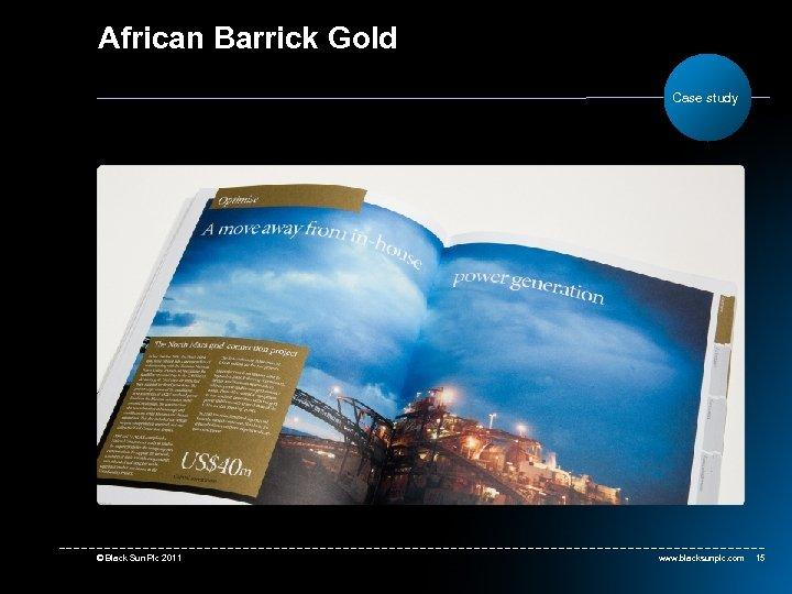 African Barrick Gold Case study © Black Sun Plc 2011 www. blacksunplc. com 15