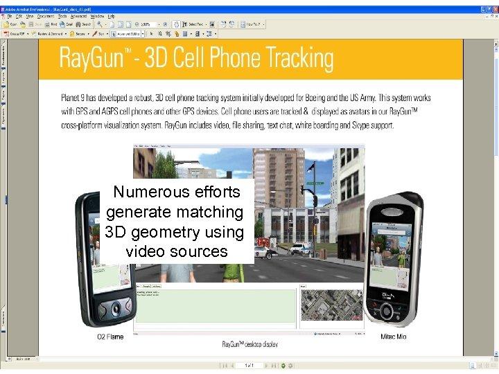 Planet 9 Ray. Gun scene 2 Numerous efforts generate matching 3 D geometry using