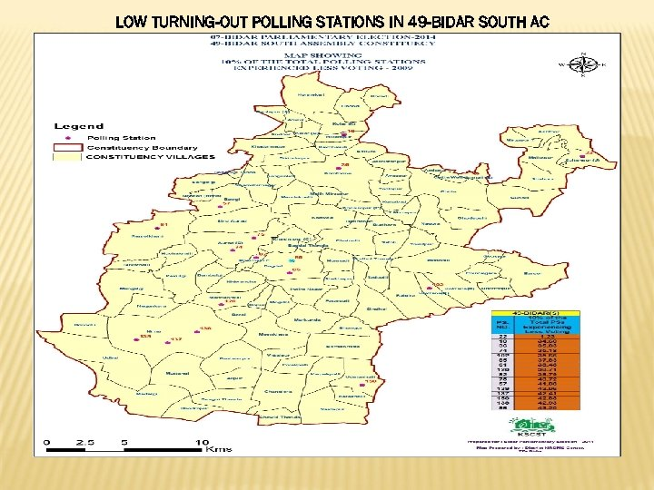 LOW TURNING-OUT POLLING STATIONS IN 49 -BIDAR SOUTH AC