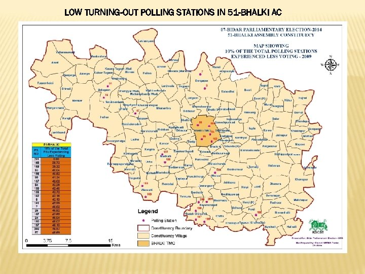 LOW TURNING-OUT POLLING STATIONS IN 51 -BHALKI AC